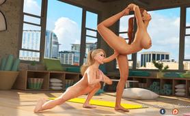Futanari porn tale Acro-Yoga Class by Futanarica