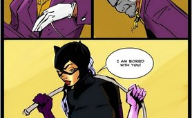 Batgirl falls victim to horny shemale Joker bitch