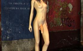 Sexy dickgirl cock erect