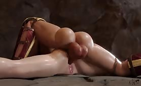 Futa Wonder Woman Gives Cumshot Anal to Super Girl by Nyl