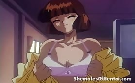 Irresistible hentai shemale gets dick fucked by a horny chick