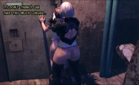 Futa fucking guy out back